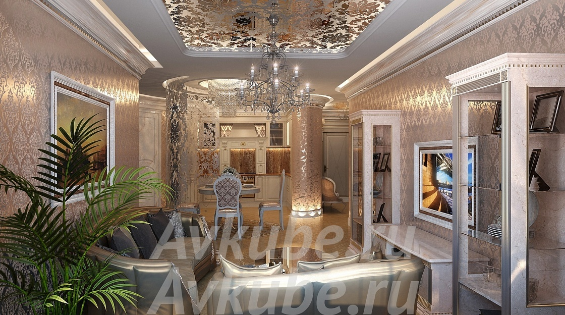 Дизайн проект квартиры 306кв.м.