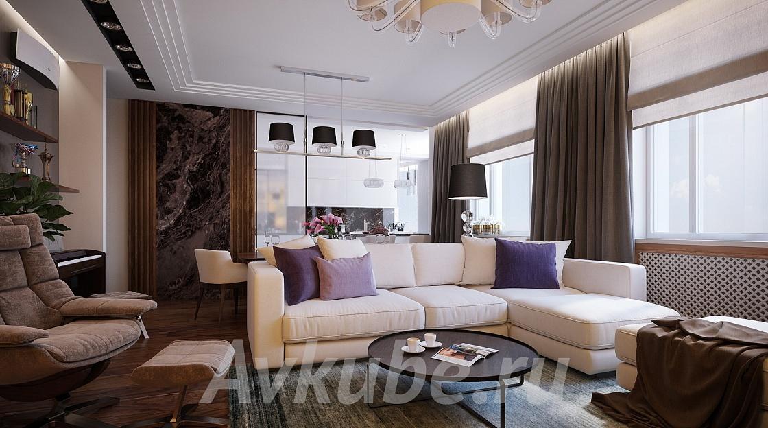 Дизайн квартиры 55 фото 1